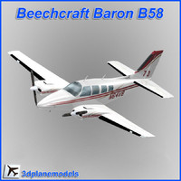 3ds max beechcraft baron b58 private