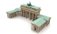 brandenburg gate 3d model