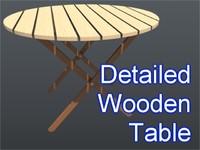 3dsmax circular table