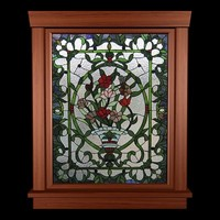 stained glass window 3d obj