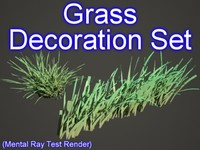 3d set decoration grasses