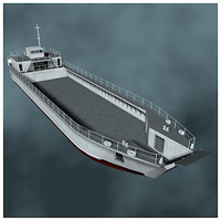 lcm landing craft mechanized 3d model