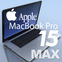notebook apple macbookpro 15 3d c4d