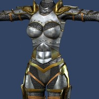 3d female warrior armor outfits
