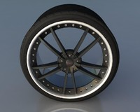 Wheel Black With Rivets