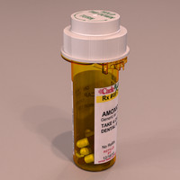 3d prescription medicine bottles pack model