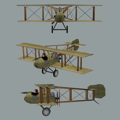 airco dh2 ww1 fighter 3d model - Airplane Airco DH2 Biplane (WW1)... by Chrisz3D