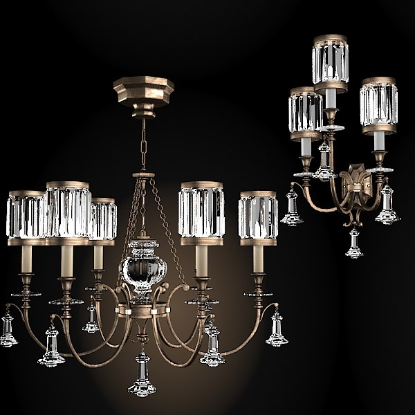 fine art lamps classic crystal chandelier wall sconce iron 584240st eaton