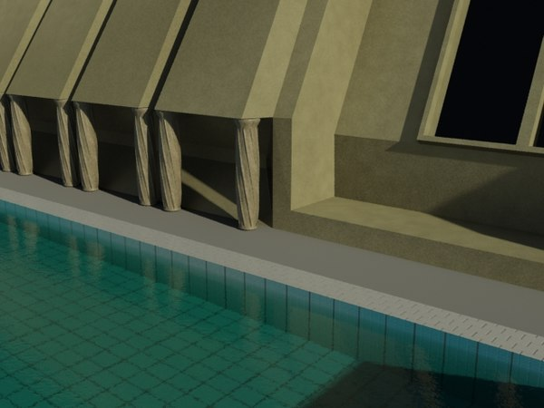egyptian hotel 3d model - Egyptian hotel... by Hitsaru