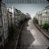 tileable historical street 3d model