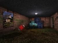 3d dark interior scene