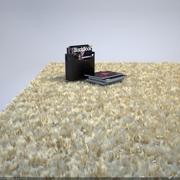 3D Models For Fluffy--fur-carpet