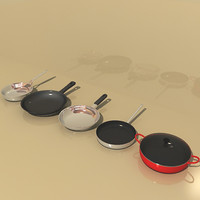 frying pans 3d max