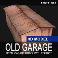 old metal garage 3d model