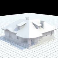 single-family house 3d obj