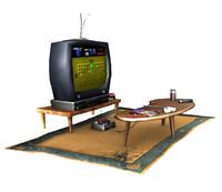 television table entertainment set w/ video games