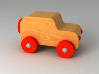 wood toy car 3d max