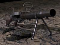 3d model lewis-gun