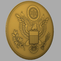 3d united states national emblem model