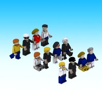 free max model pack lego people