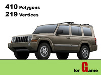 jeep commander lowpoly