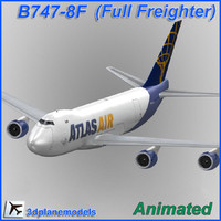 b747-8 atlas air 747 3d model