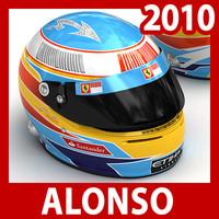 2010 F1 Fernando Alonso Helmet
