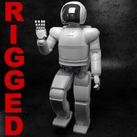 3d asimo robot honda rigged