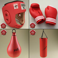 boxing set training 3d max