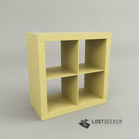 3d ikea expedit shelving unit