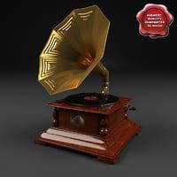 3d gramophone modelled
