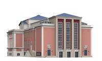 grillo theater theatres 3d model