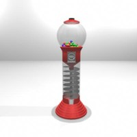 3d model of machine gum ball