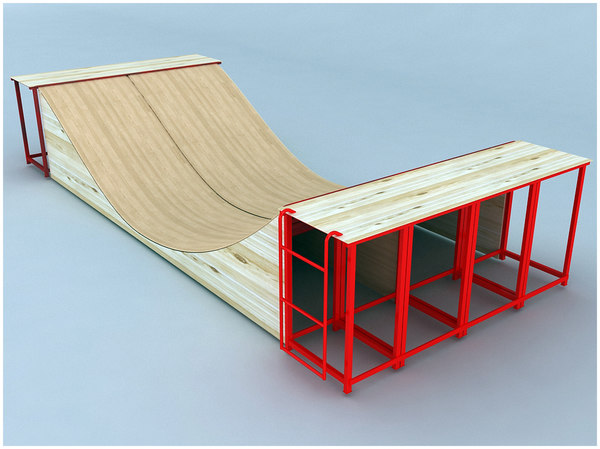 how to build a half pipe skate ramp