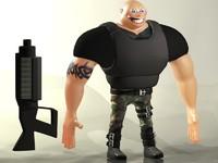 free max mode cartoon police
