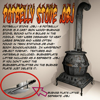 3d potbelly stove