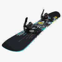 3dsmax snow board snowboard