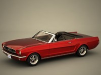3d convertible muscle musclecar model