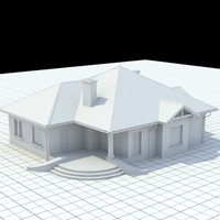 3d model single-family house
