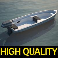 3d motorboat motor boat