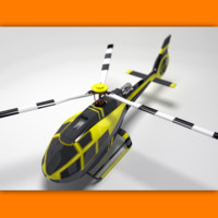 generic helicopter simple template 3d model