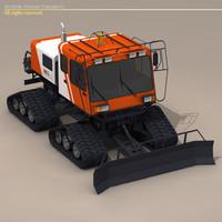 3d model snow cat