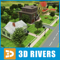 town street trees 3d 3ds