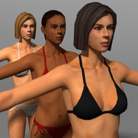 3d bikini girls