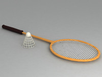 badminton racket 3d 3ds