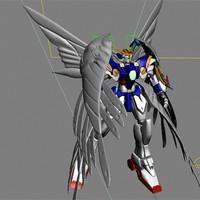 3d gundam wing zero custom