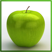 apple green 3d obj