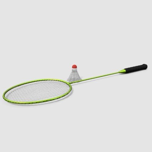 badminton shuttlecock 3d model