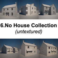 untextured family houses 3d max