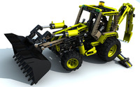 3d lego technic digger model